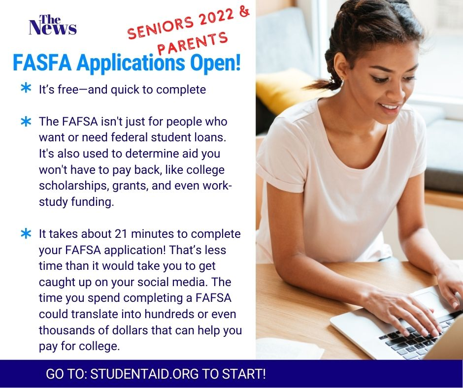 FASFA Applications Open!